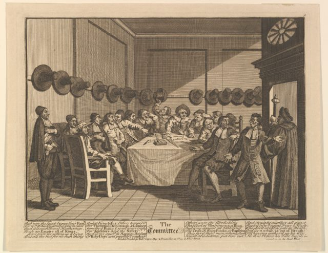 The Committee (Twelve Large Illustrations for Samuel Butler's Hudbras, Plate 10)