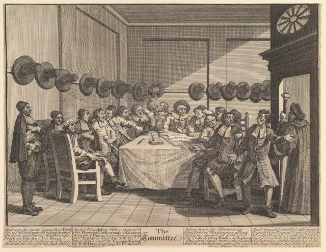 The Committee  (Twelve Large Illustrations for Samuel Butler's Hudibras, Plate 10)