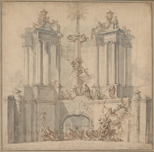 Fireworks Display for the Convalescence of Louis XV
