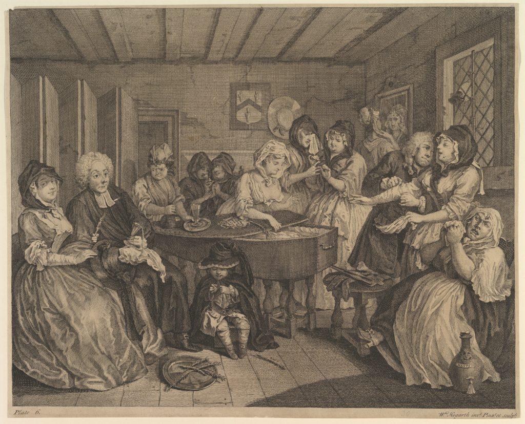 A Harlot's Progress, Plate 6