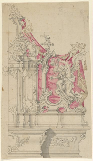 Right Half of a Design for an Altar in Rococo Style