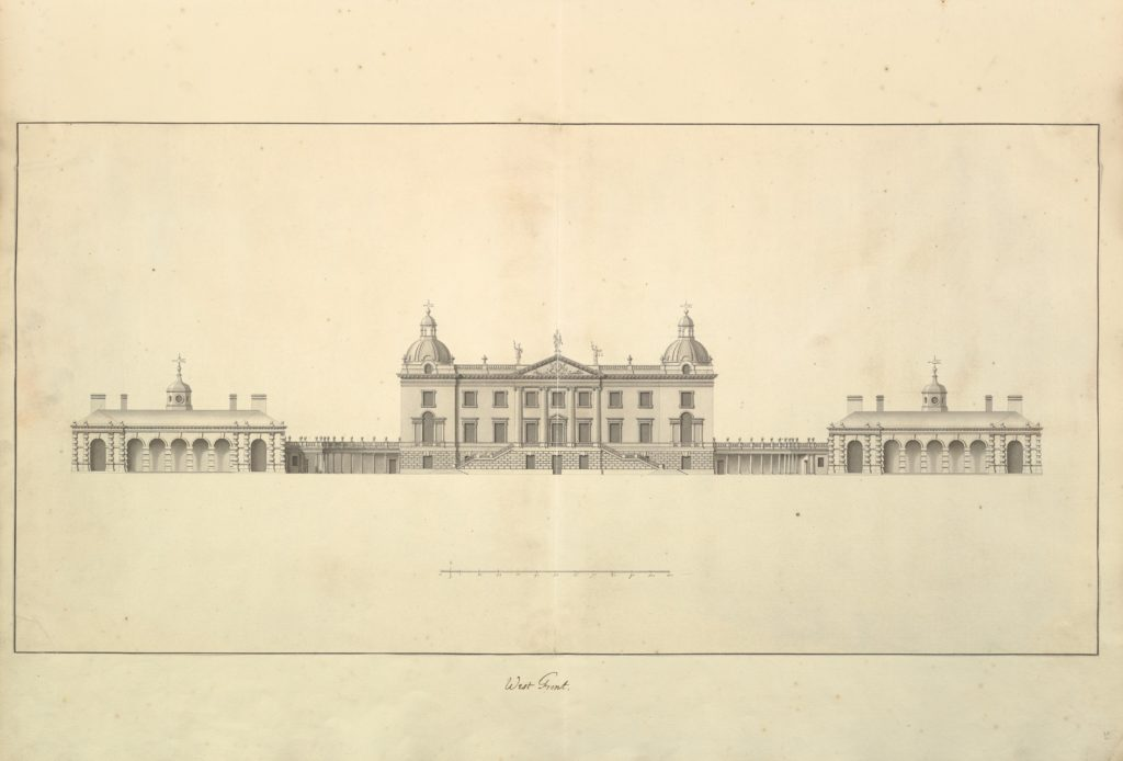 The West Front of Houghton Hall, Norfolk, Elevation
