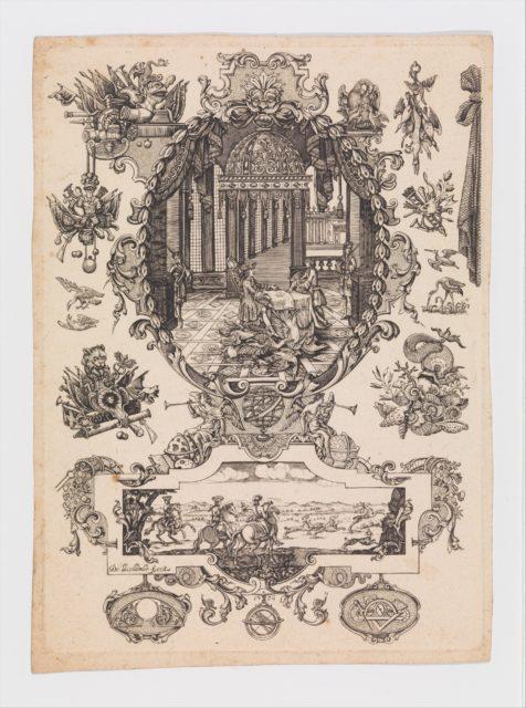 Plate twelve from Nouveavx Desseins D'Arquebvseries