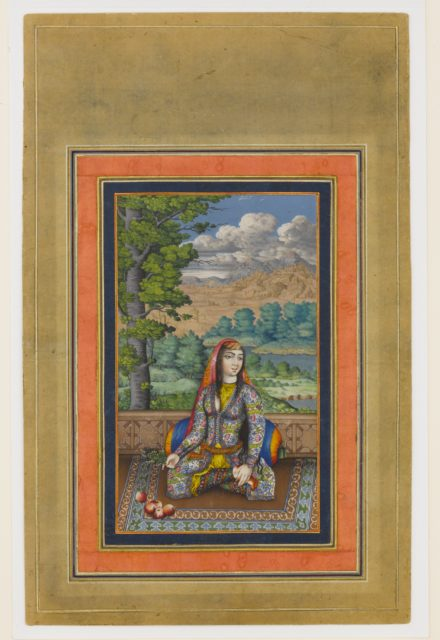 """Portrait of a Persian Lady"", Folio from the Davis Album"