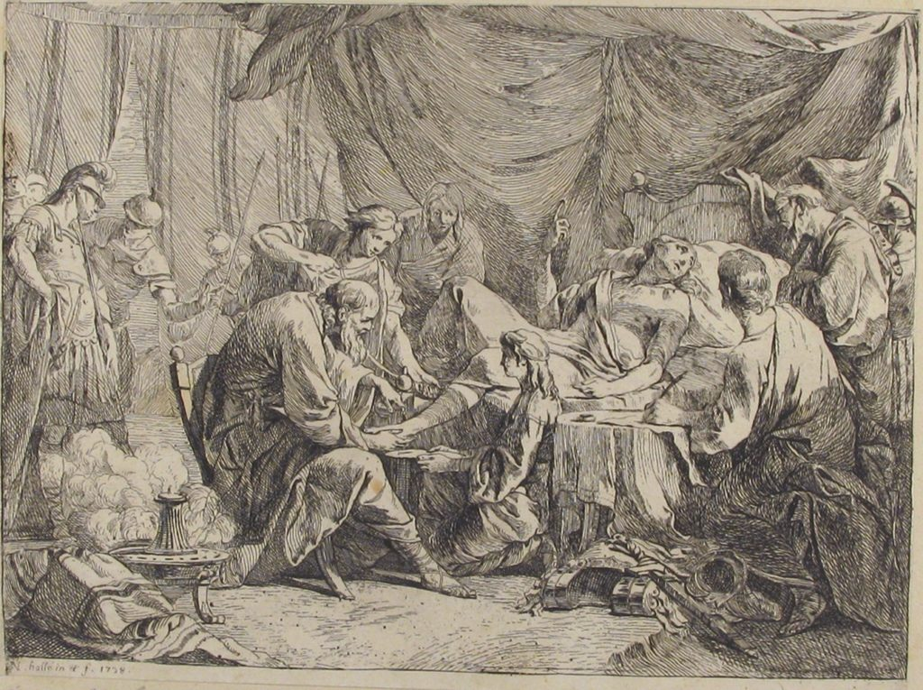 Death of Antiochus After His Fall