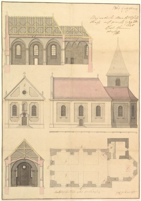 Design for the Parish Church of Merkershausen