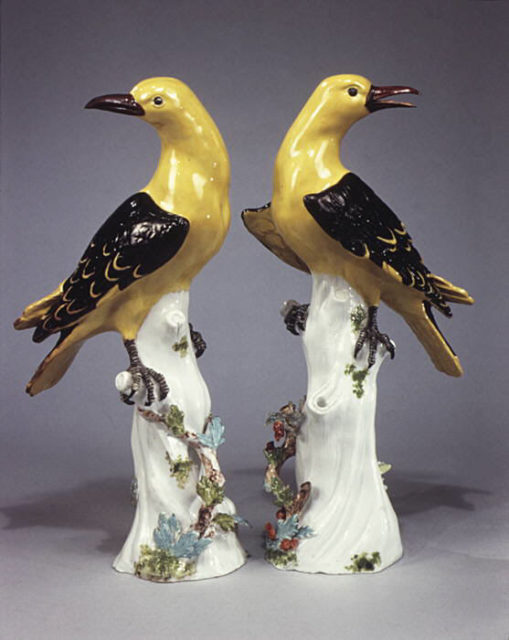 Golden oriole (one of a pair)