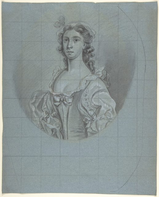 Half-Length Portrait Study of a Young Woman with Long Hair