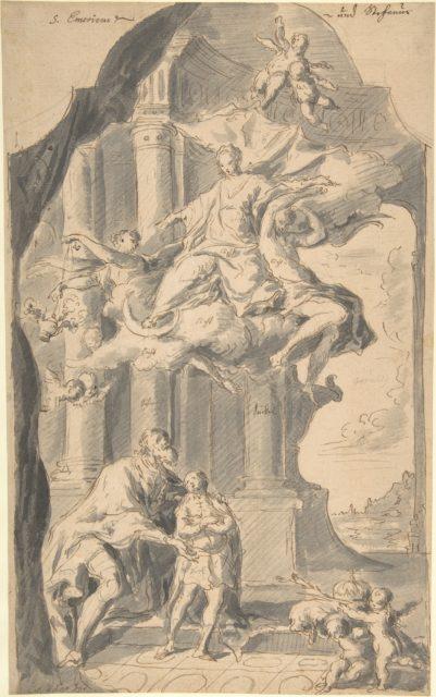 Saint Stephen of Hungary Presenting his Son, Saint Emeric, to the Virgin