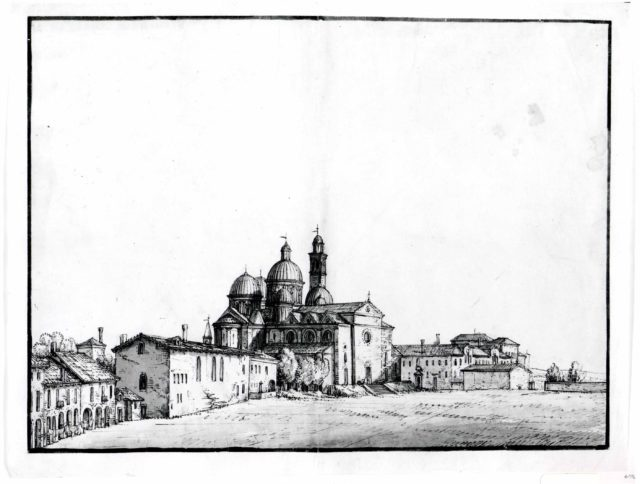 Santa Giustina and the Prato della Valle at Padua