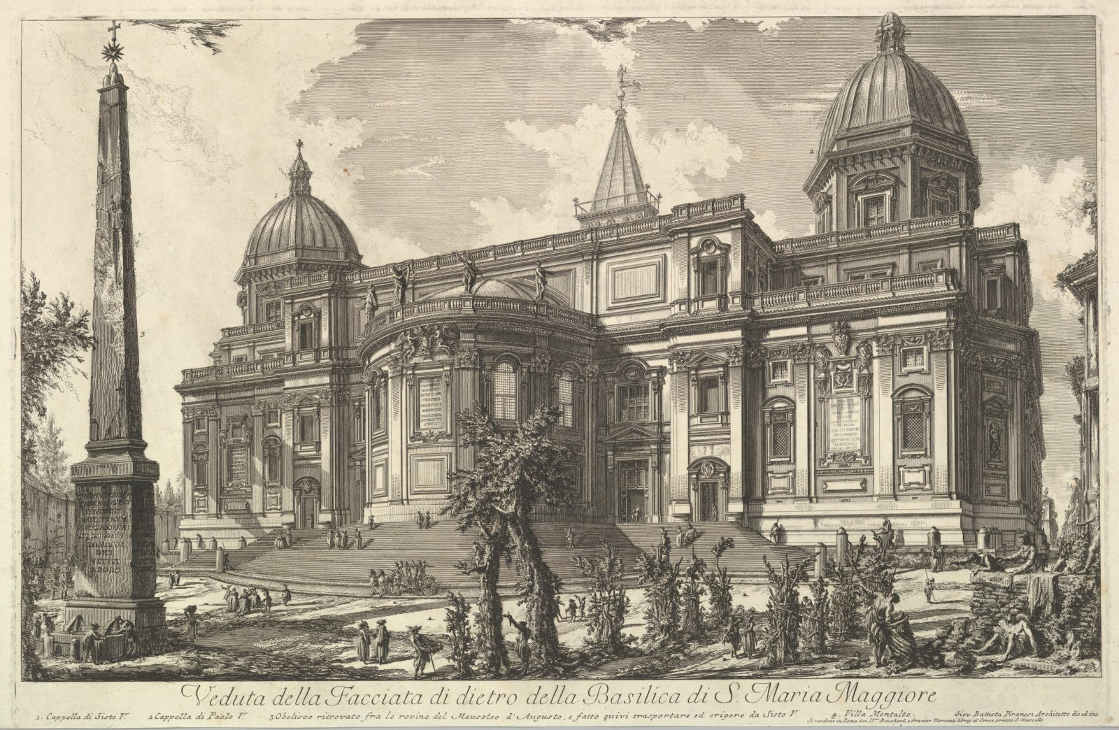 View of the rear entrance of the Basilica of S. Maria Maggiore, from Veduta di Roma (Roman Views)