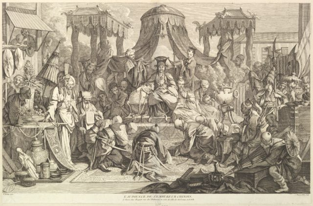 L'audience de l'Empereur chinois (The audience of the Chinese Emperor), from Chinoiseries
