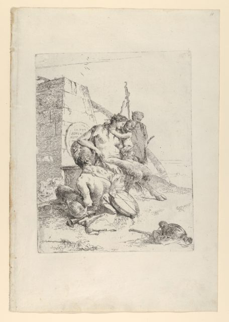 Satyr Family with the Obelisk, from the Scherzi
