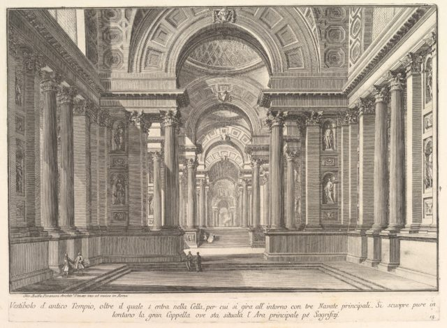 Vestibule of an ancient temple . . . (Vestibolo d'antico Tempio . . .)