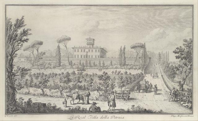 View of the Villa La Petraia, in Vedute delle ville, e d'altri luoghi della Toscana (page 33)