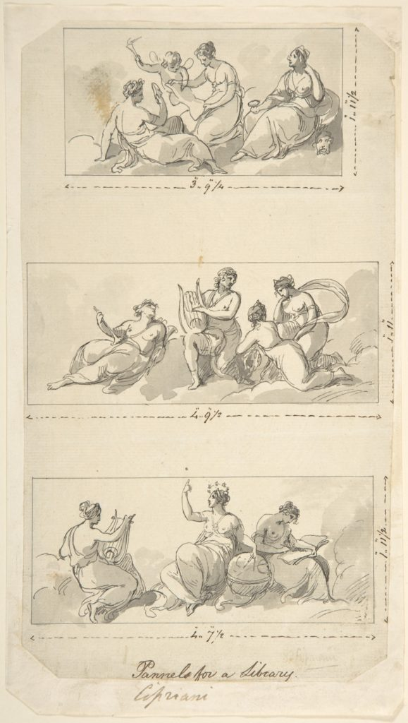 Design for Three Panels for a Library