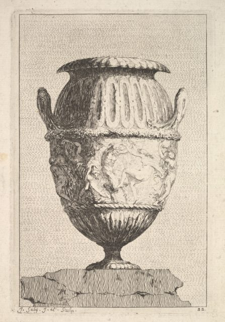 Design for a Vase with a Bacchic Frieze, from: Vases