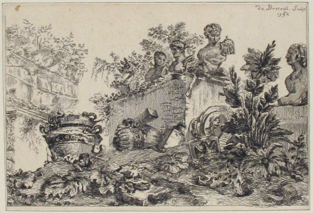 Landscape with Ruins of Statues and Vases
