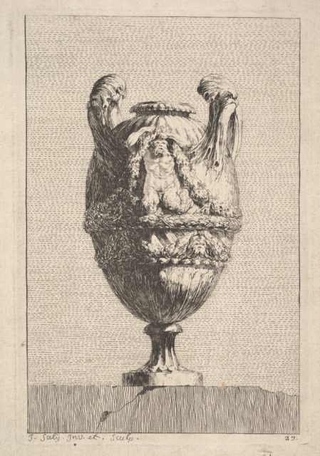 Vase with a Male Siren holding up a Garland, from: Vases