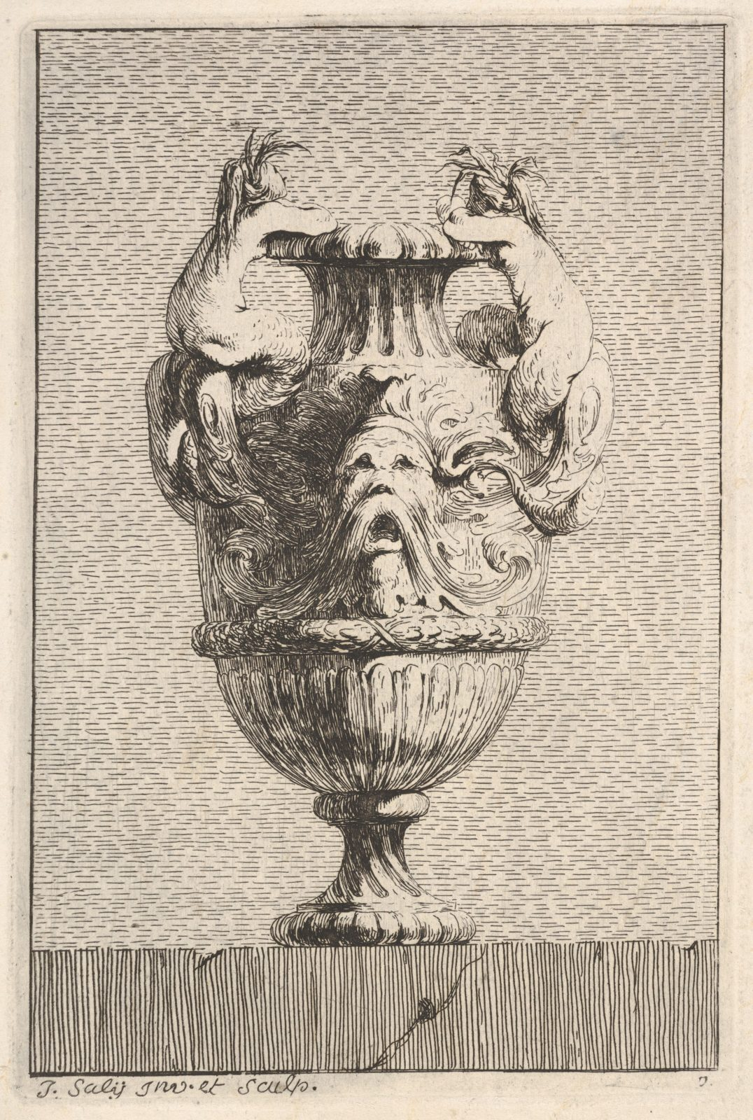 Vases; Set of Wall Monuments; Statue of Louis XV