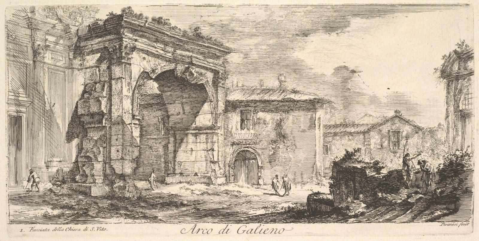 Arch of Galienus. 1. Façade od the Church of S. Vito (Arco di Galieno. 1. Facciata della Chiesa di S. Vito)