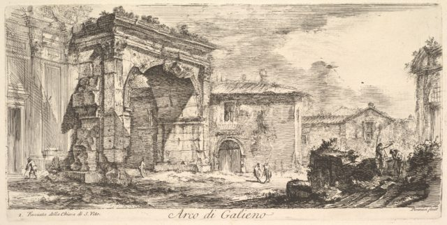 Arch of Galienus. 1. Façade od the Church of S. Vito (Arco di Galieno. 1. Facciata della Chiesa di S. Vito)