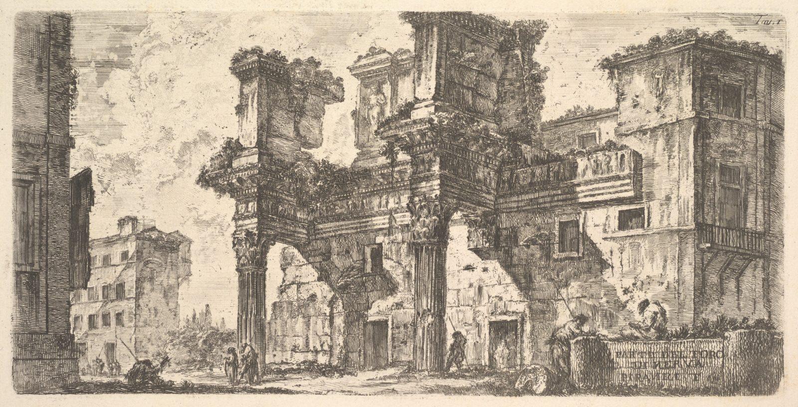 Plate 1: Part of the Forum of Nerva (Parte del Foro di Nerva)