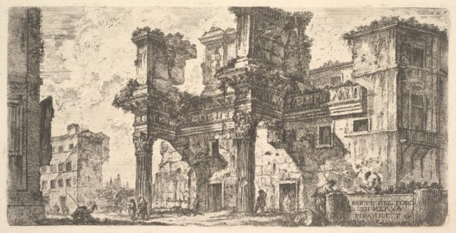 Plate 1: Part of the Forum of Nerva (Parte del Foro di Nerva)