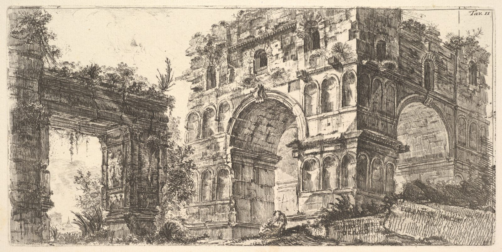 Plate 11: Temple of Janus (Tempio di Giano) from the series 'Antichita Romana'