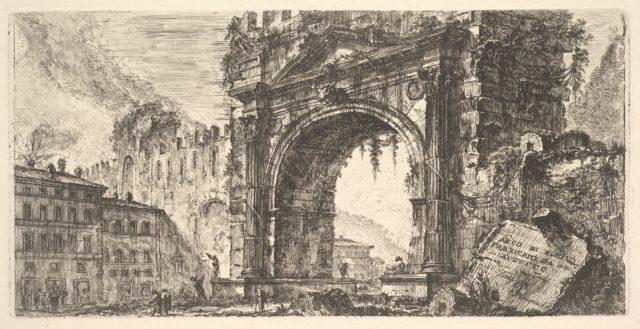 Plate 17: The Arch of Rimini built by Augustus (Arco di Rimino fabbricato da Augusto)