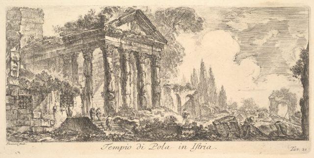 Plate 21: Temple of Pola in Istria (Tempio di Pola in Istria)