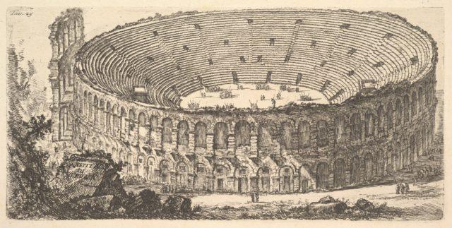 Plate 25: Amphitheater of Verona (Anfiteatro di Verona)
