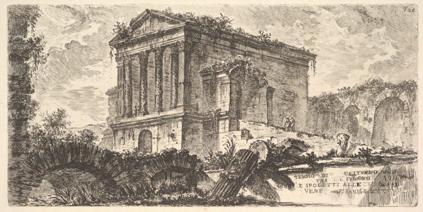 Plate 26: Temple of Clitumnus between Foligno and Spoleto . . . (Tempio di Clitumno tra Fuligno e Spoletti . . .)