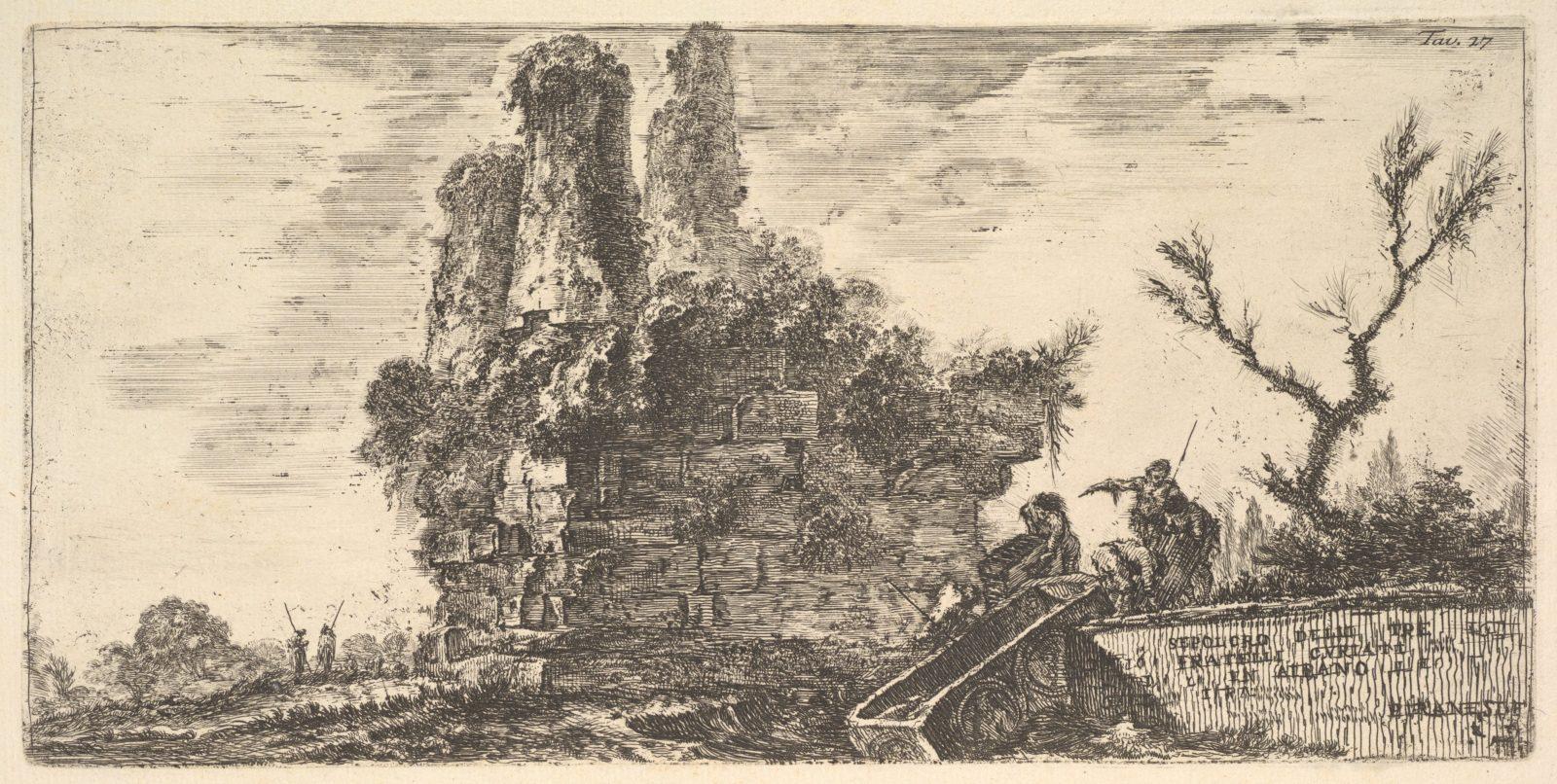 Plate 27: Tomb of the three Curiatii brothers in Albano (Sepolcro delle tre fratelli Curiati in Albano)