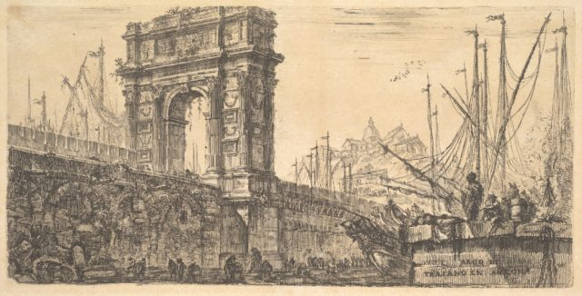 Plate 28: Arch of Trajan in Ancona (Arco di Trajano in Ancona)