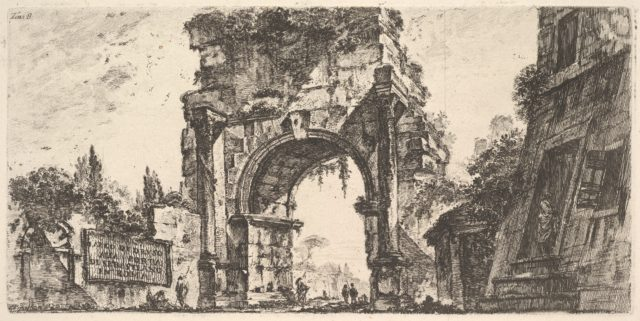 Plate 8: Arch of Drusus at the Porta S. Sebastiano in Rome (Arco di Druso alla Porta di Sebastiano in Roma)