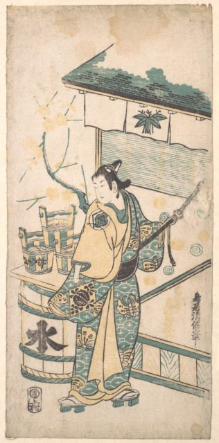 The Actor Oneo Kikugoro in the Role of Soga no Goro