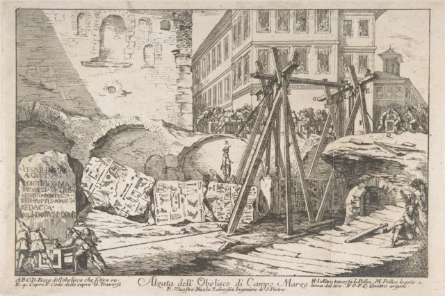 The Excavation of an Obelisk from the Campo Marzo