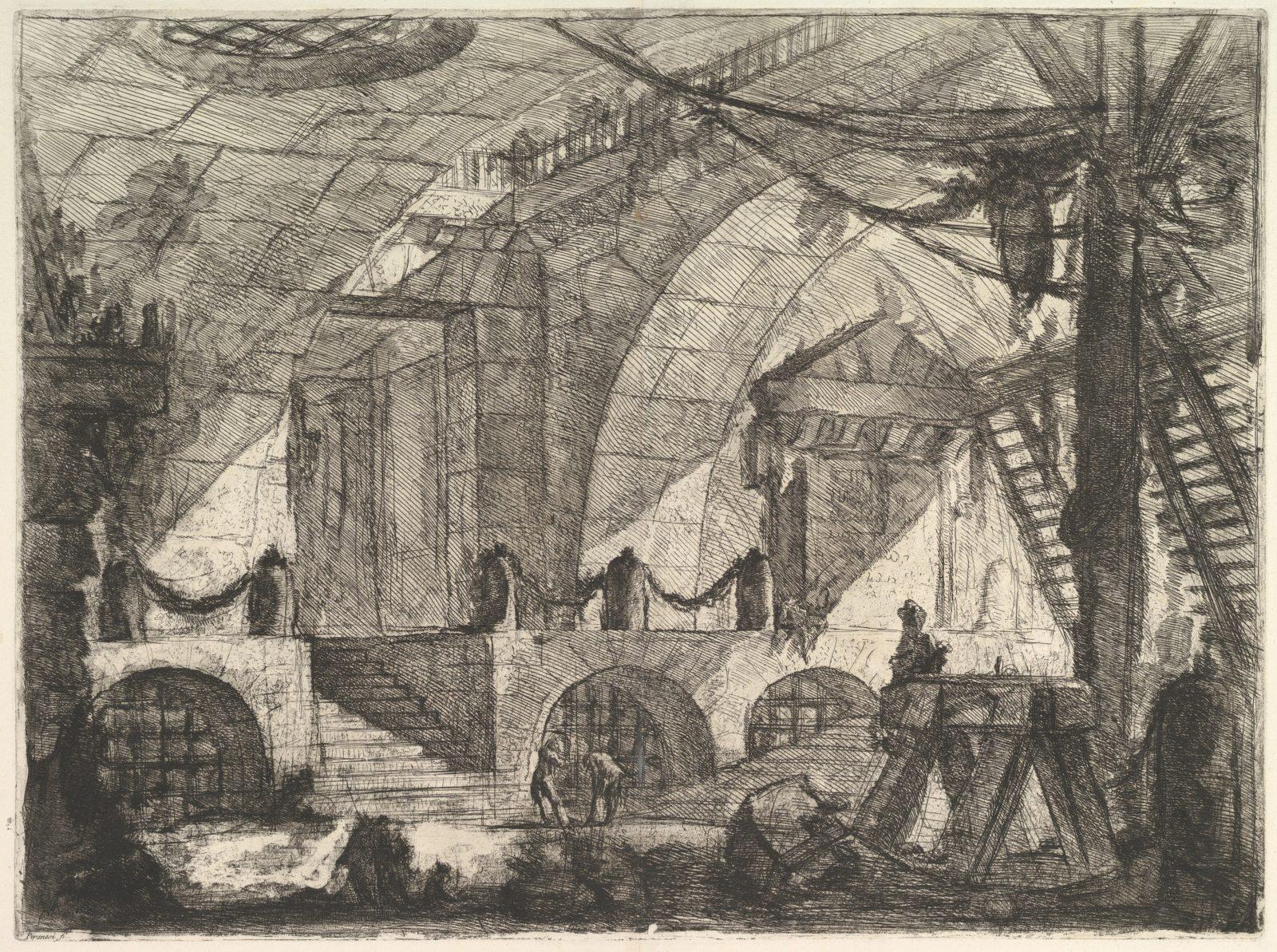 The Sawhorse, from Carceri d'invenzione (Imaginary Prisons)