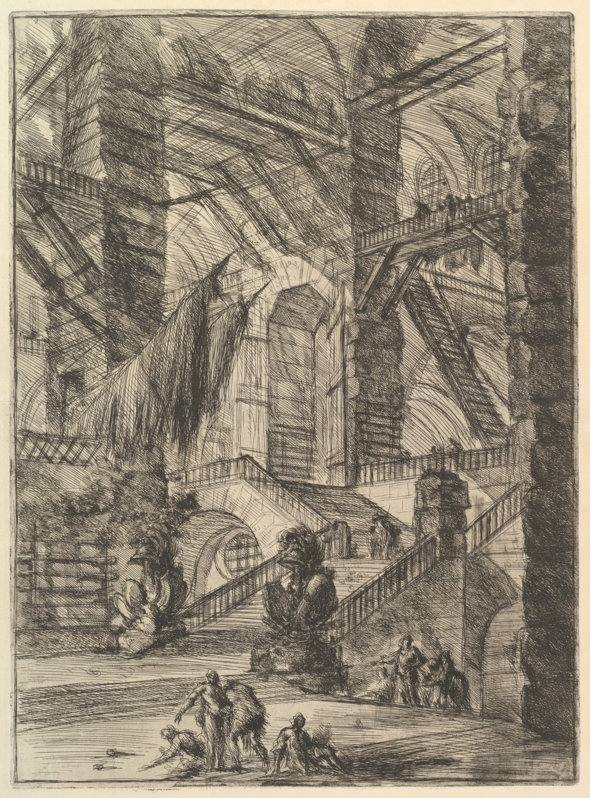 The Staircase with Trophies, from Carceri d'invenzione (Imaginary Prisons)