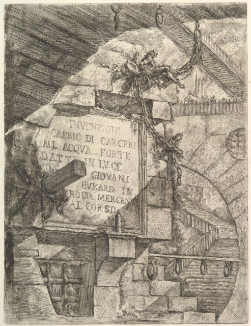 Title Page, from Carceri d'invenzione (Imaginary Prisons)