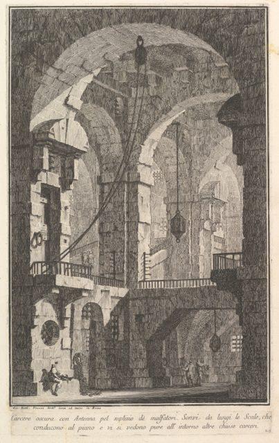 Dark prison with a courtyard for the punishment of criminals . . .(Carcere oscura con Antenna pel suplizio dè malfatori . . .)
