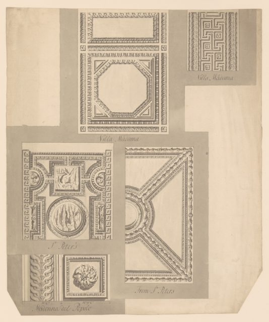 Details of Ceilings, Villa Madama, St. Peter's and Madonna del Popolo