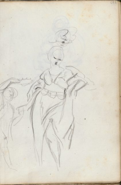 Diana (leaf in Italian Sketch Book, 1750–52)