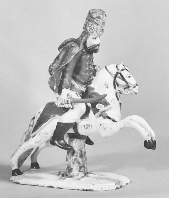Equestrian figure of a hussar officer
