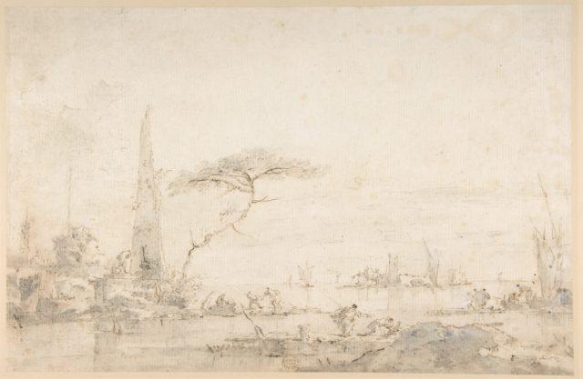 Lagoon Capriccio with an Obelisk
