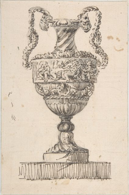 Design for a Vase (recto); Sketch of Small Vase (verso)