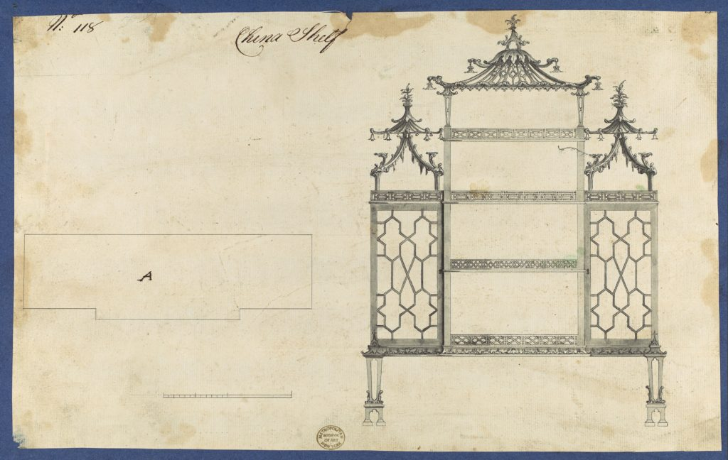 China Shelf, from Chippendale Drawings, Vol. II
