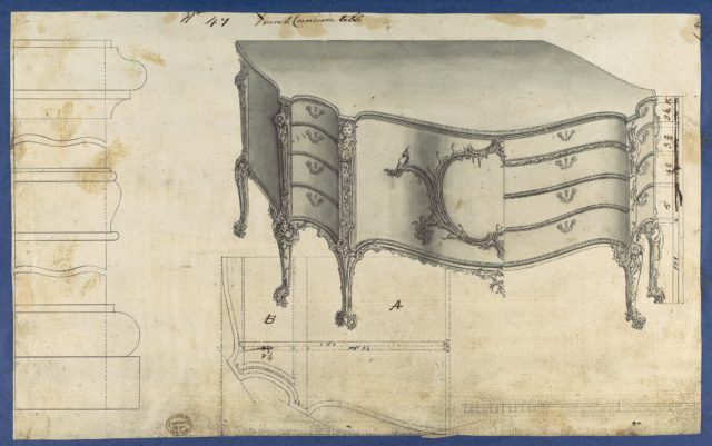 French Commode Table, from Chippendale Drawings, Vol. II