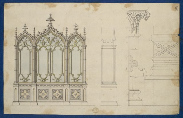 Gothic Bookcase, from Chippendale Drawings, Vol. II